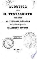 Lodovica ossia Il testamento romanzo di Vittorio Ducange