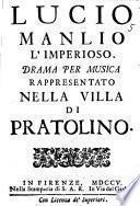 Lucio Manlio l'imperioso