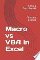 Macro vs VBA in Excel: Teoria e pratica
