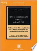 Maffia e delinquenza in Sicilia