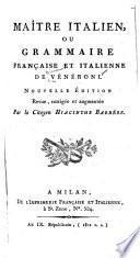 Maître italien; ou, Grammaire française et italienne ...