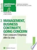 Management, business continuity, going concern
