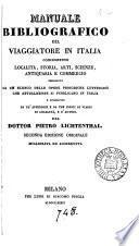 Manuale bibliografico del viaggiatore in Italia