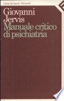 Manuale critico di psichiatria