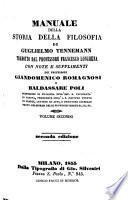 Manuale della Storia della Filosofia