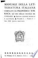 Manuale delle letteratura italiana ...