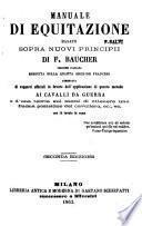 Manuale di equitazione basato sopra nuovi principii