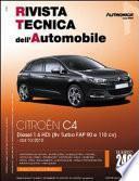 Manuale di riparazione meccanica Citroen C4 1.6 HDi 8v Turbo FAP 90 e 110 cv - RTA240