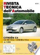 Manuale di riparazione meccanica Citroen C4 1.6 i 16v 110cv - 1.6 HDi 90 e 110cv - RTA177