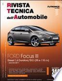 Manuale di riparazione meccanica Ford Focus III Diesel 1.6 Duratorq TDCi (95 e 115 cv) dal 04/2011 - RTA244