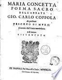 Maria Concetta poema sacro dell'abbate Gio. Carlo Coppola al presente vescouo di Muro