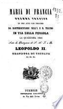 Maria di Francia dramma tragico in tre atti con prologo [poesia di Francesco Guidi