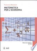 Matematica per l'economia