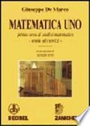 Matematica uno. Primo corso di analisi matematica. Teoria ed esercizi. Per le Scuole superiori