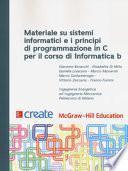 Materiale su sistemi informatici e i principi di programmazione in C per il corso di Informatica B