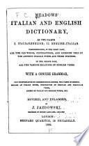 Meadows' Italian and English Dictionary