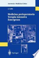 Medicina perioperatoria Terapia intensiva Emergenza