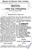 Meeting per la Polonia Catania addì 15 marzo 1863