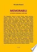 Memorabili. Letterati Ferraresi 1420-2020