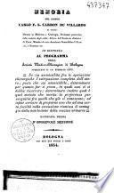 Memoria del signor Carlo F.S. Carron du Villards di Parigi... in risposta al programma della società medico-chirurgica di Bologna pubblicato il 10. febbrajo 1833...