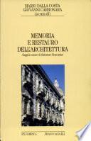 Memoria e restauro dell'architettura