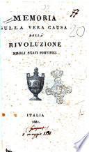 Memoria sulla vera causa della rivoluzione negli stati pontificj