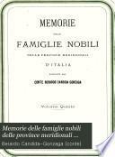 Memorie delle famiglie nobili delle province meridionali d'Italia