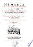 Memorie istoriche, critiche, morali, concernanti la vita del beato Giordano Forzatè priore di S. Benedetto in Padova