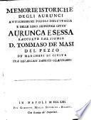 Memorie istoriche degli Aurunci ... populi dell'Italia e delle loro principali citta Aurunca e Sessa