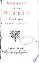 Memorie, overo Diario del cardinal Bentivoglio