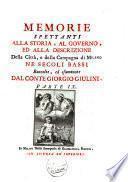 Memorie spettanti alla storia, al governo ed alla descrizione della città, e della campagna di Milano, ne' secoli bassi