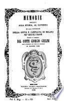 Memorie spettanti alla storia, al governo ed alla descrizione della città, e della campagna di Milano, ne'secoli bassi
