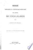 Memorie storico-genealogiche della famiglia dei Crollalanza