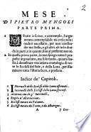 Mese di Pietro Mengoli. Parte prima