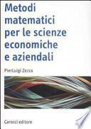 Metodi matematici per le scienze economiche e aziendali