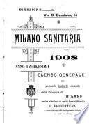 Milano sanitaria elenco generale dei sanitari esercenti in Milano e provincia