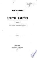 Miscellanea di scritti politici pubblicata per cura di F. Bussotti