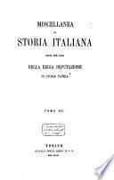 Miscellanea di storia italiana