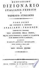 Neuestes deutsch-italiänisches Wörterbuch