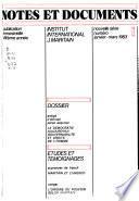 Notes et documents