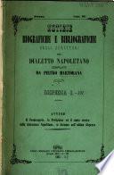 Notizie biografiche e bibliografiche degli scrittori del dialetto Napoletano