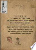 Notizie intorno all'autore del libro del Monte Santo di Dio e delle tre stampe che lo adornano estratte dalla biografia degli scrittori sanesi dell'ab. Luigi De Angelis ..