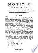 Notizie storiche delle città del Lazio vecchio e nuovo