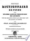 NOUVEAU DICTIONNAIRE DE POCHE DES QUATRE LANGUES PRINCIPALES DE L'EUROPE