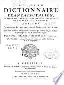 Nouveau dictionnaire français-italien