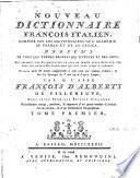 Nouveau dictionnaire françois-italien
