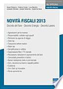 Novità fiscali 2013