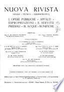 Nuova rivista legale-tecnica-amministrativa