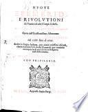 Nuove Efemeridi e Revolutioni de Pianeti ed altri corps celesti