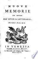 Nuove memorie per servire all'istoria letteraria
